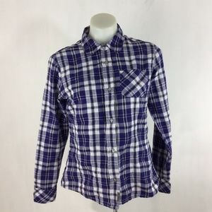 Merrell Button Up Plaid Long Sleeve Shirt